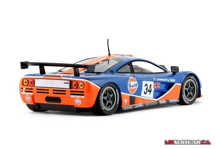 MR Slotcar McLaren F1 GTR - Le Mans 1996 - #34 Gulf