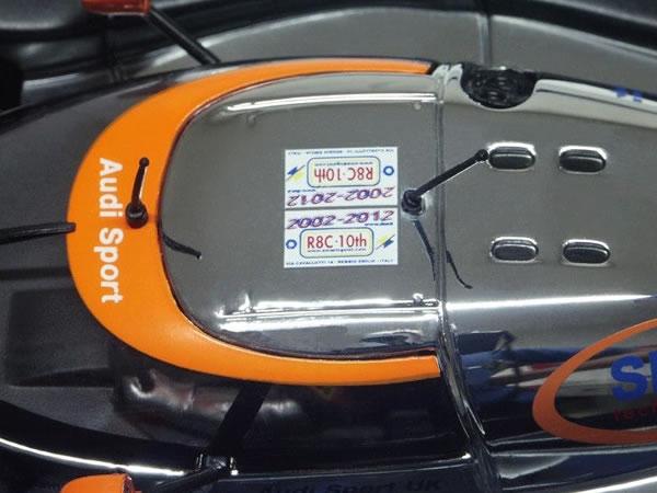CA01 - Audi R8C, 2002-2012 10 ieme anniversaire - Edition Limitee