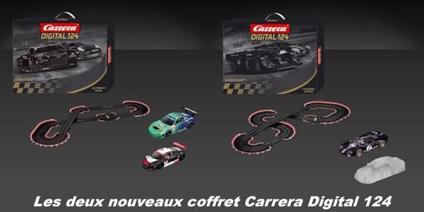 Les deux nouveaux coffrets Carrera 124 digital
