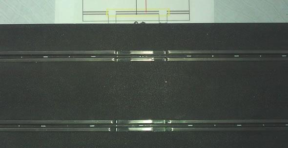Rail coupure vue de dessus