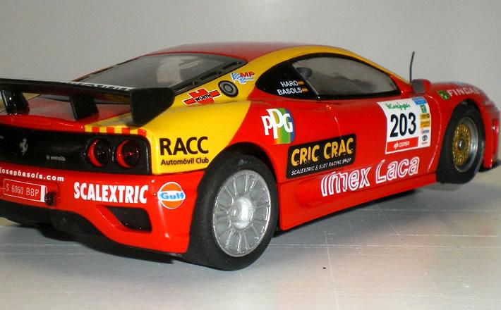 Ferrari 360 - SCX flanc arrière