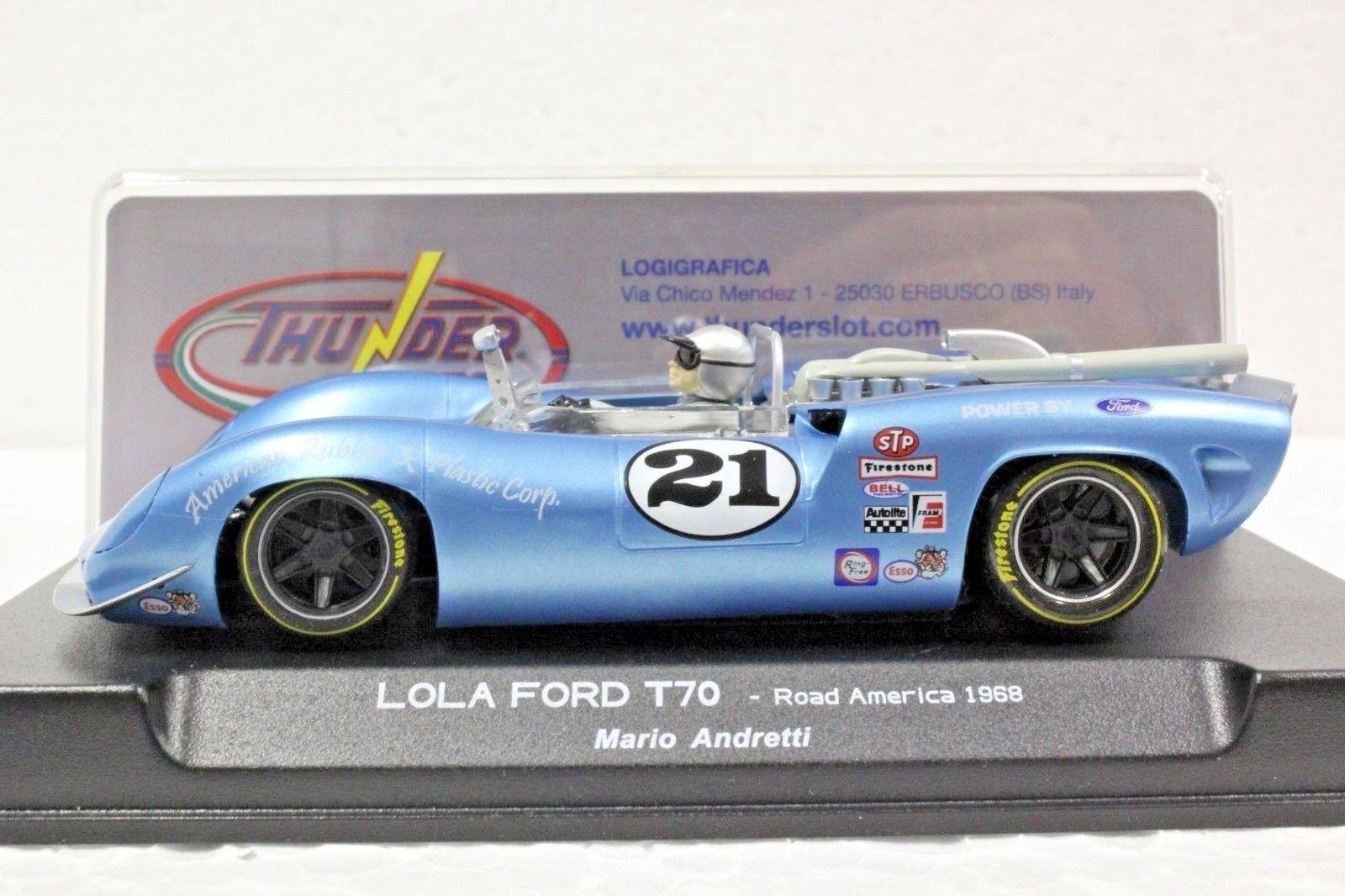 Lola T70 Can-Am - 1968 #21 Mario Andretti – Thunderslot - CA00203