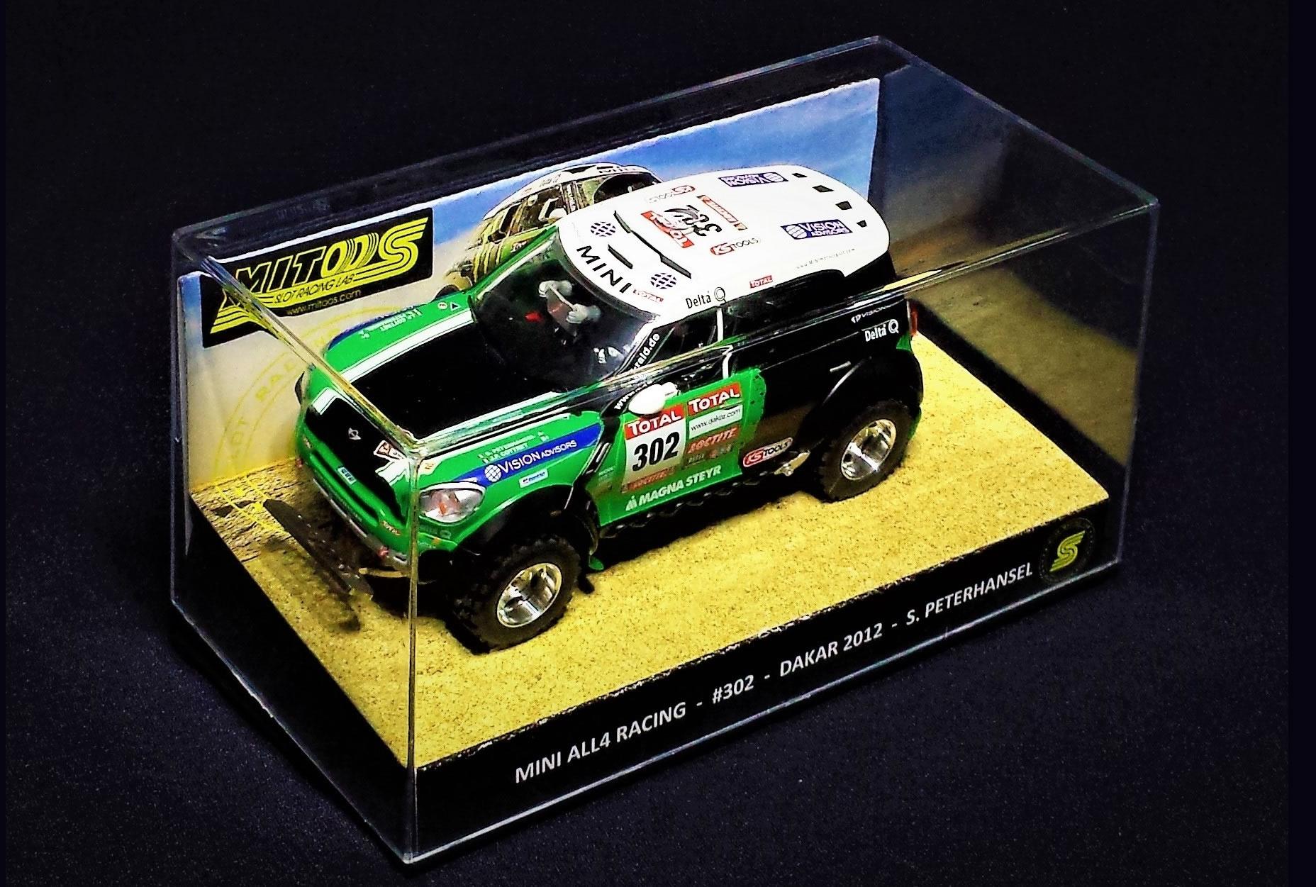 M801 - Mini All4 Racing – #302 – DAKAR 2012 – Peterhansel