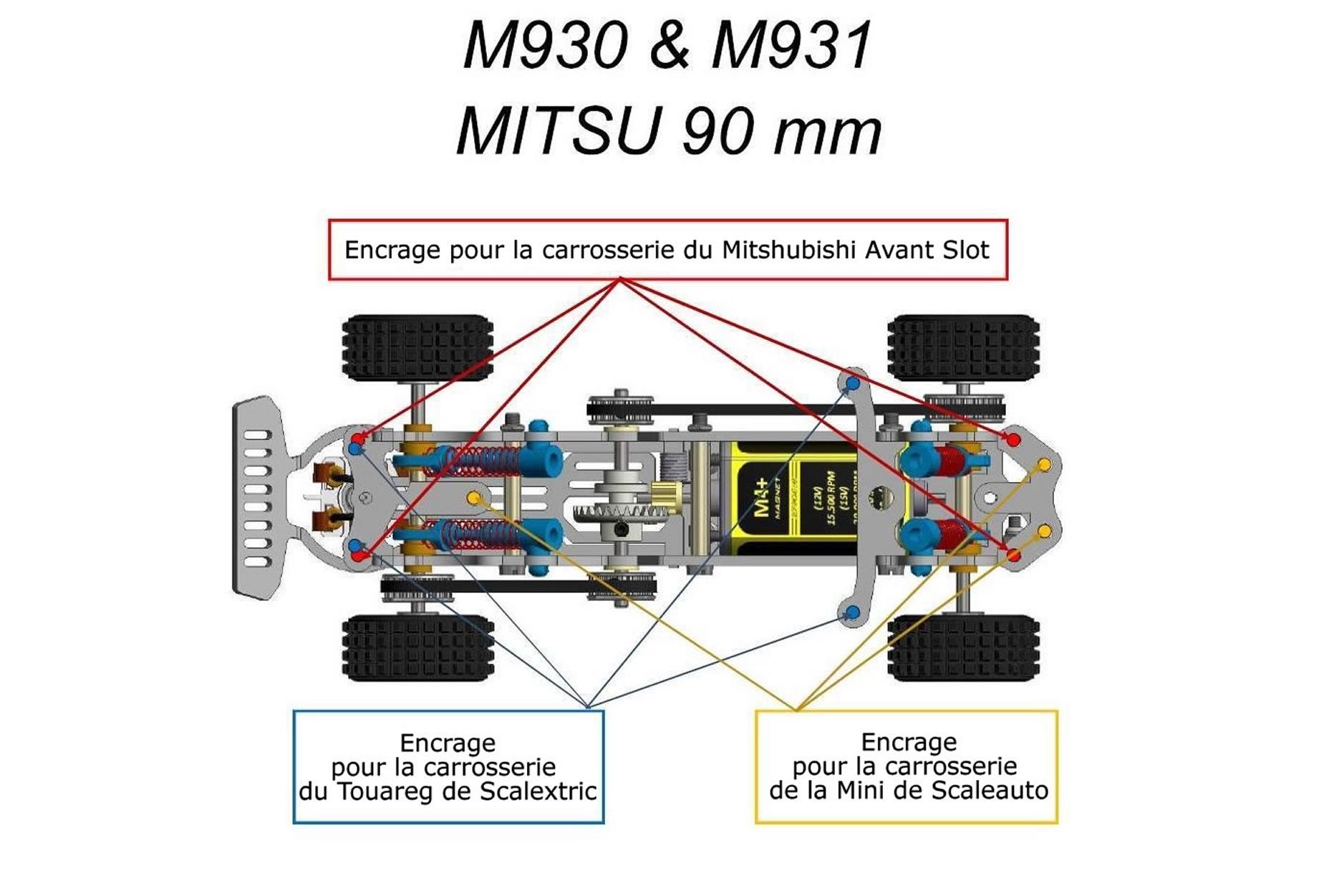 Mitoos châssis MITSU 90 mm
