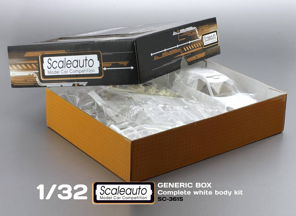 Scaleauto kit carrosserie blanc de la Mini X-Raid All4 Racing
