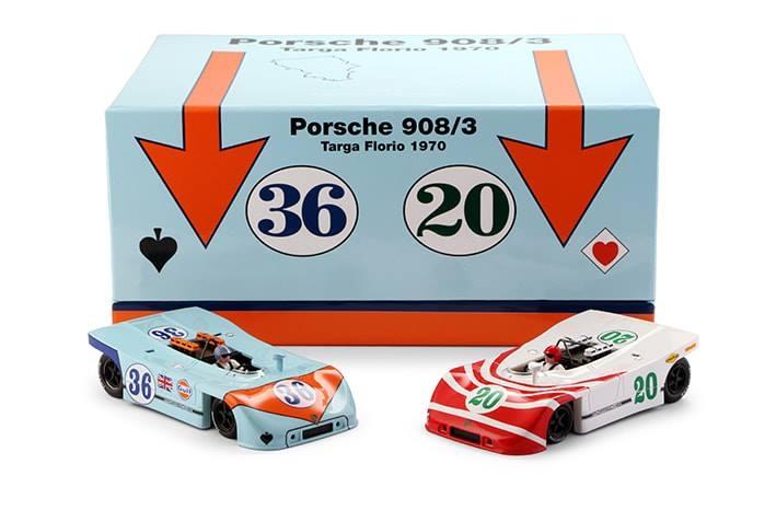 NSR Slot: SET 09 2/2 coffret Poker AS Porsche 908/3 TARGA FLORIO 1970