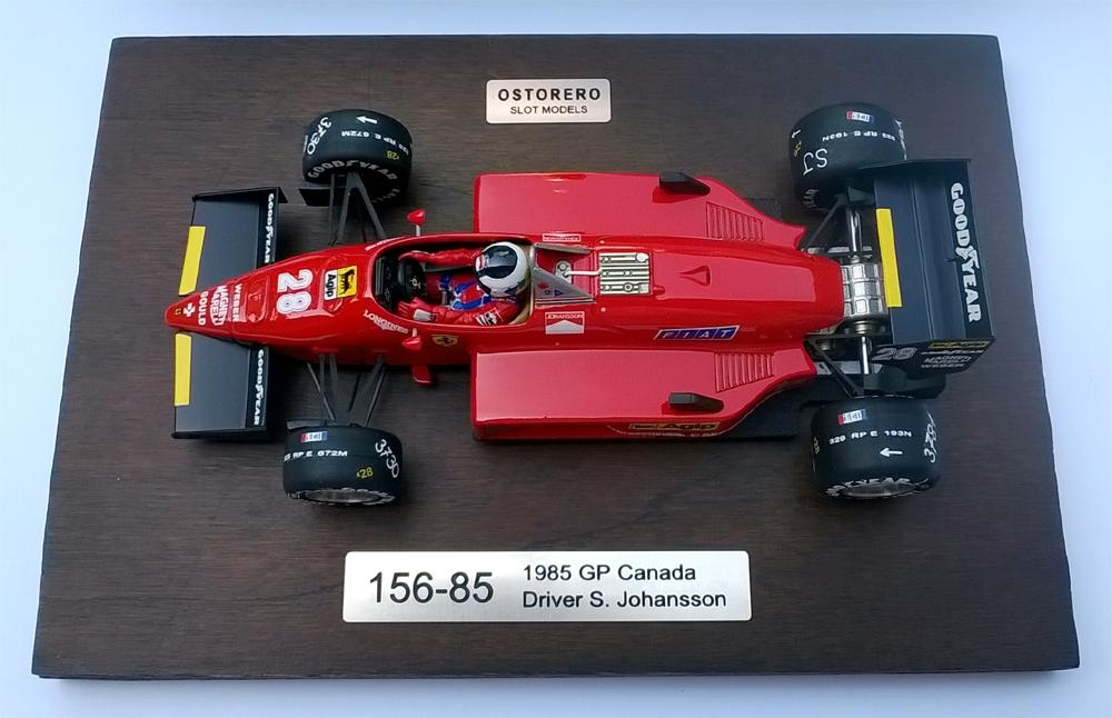 Ferrari 156-85 - Stefan Johansson - 1985 GP Canada
