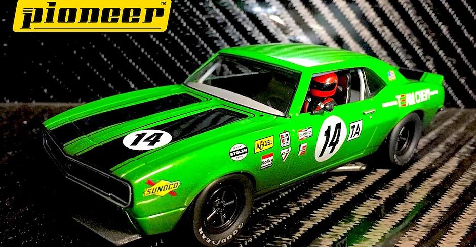 Pioneer 1968 Chevy Camaro #14, Green '12hr Enduro Racer' - Ref: P044