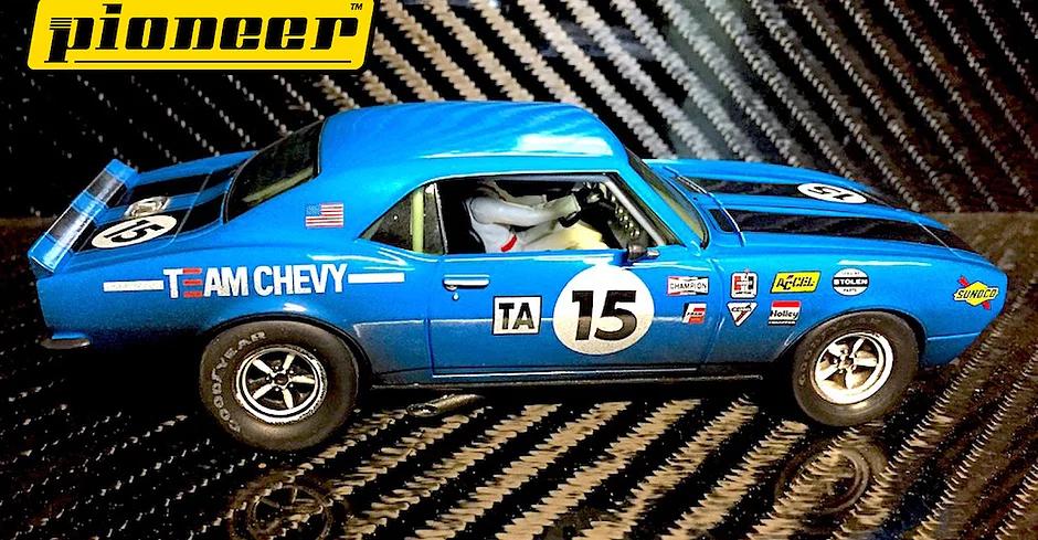 Pioneer 1968 Chevy Camaro #15, Blue '12hr Enduro Racer' - Ref: P045