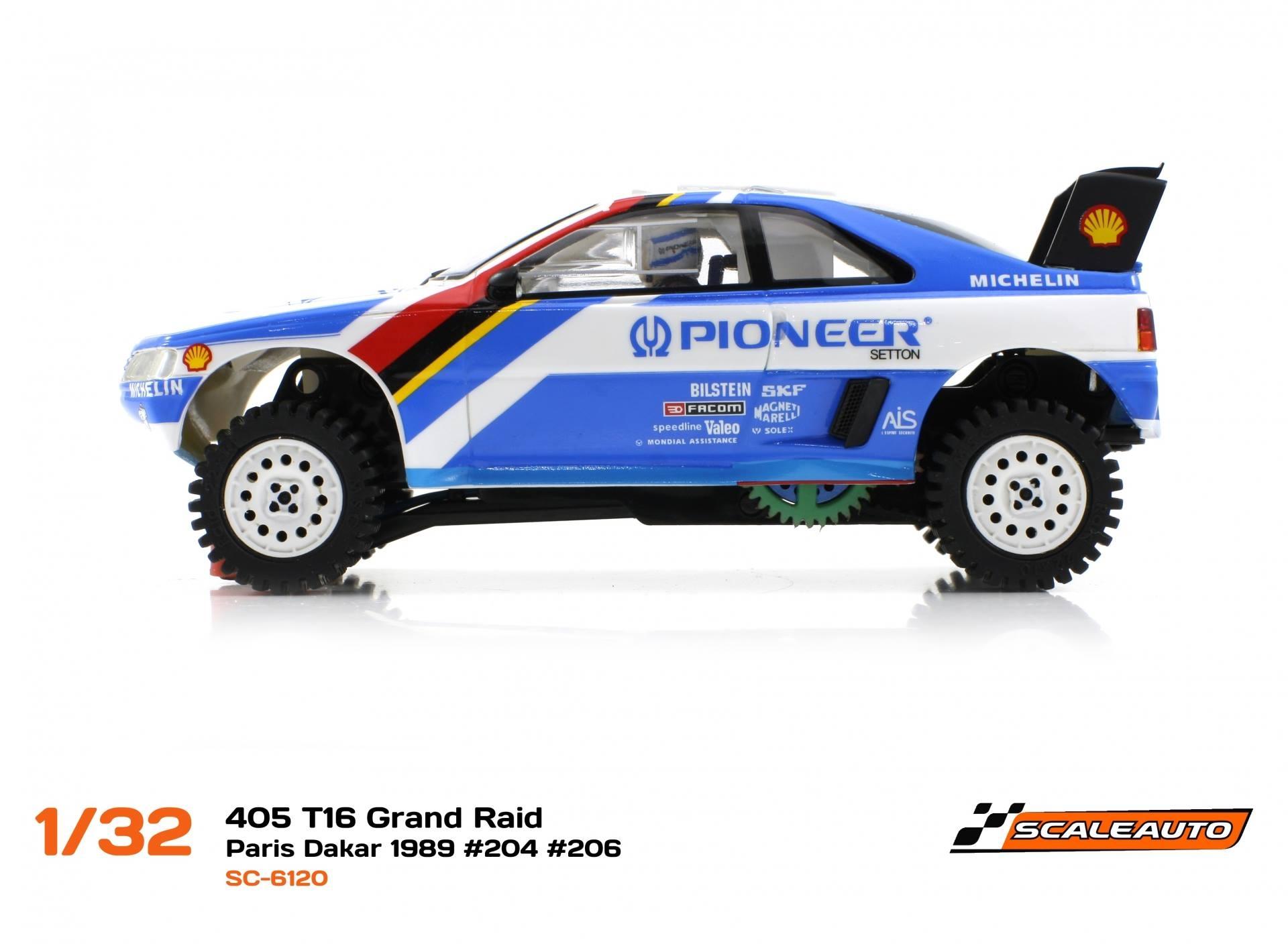 "Scaleauto : la Peugeot 405 T16 grand raid ""vainqueur"" Paris Dakar 1989"