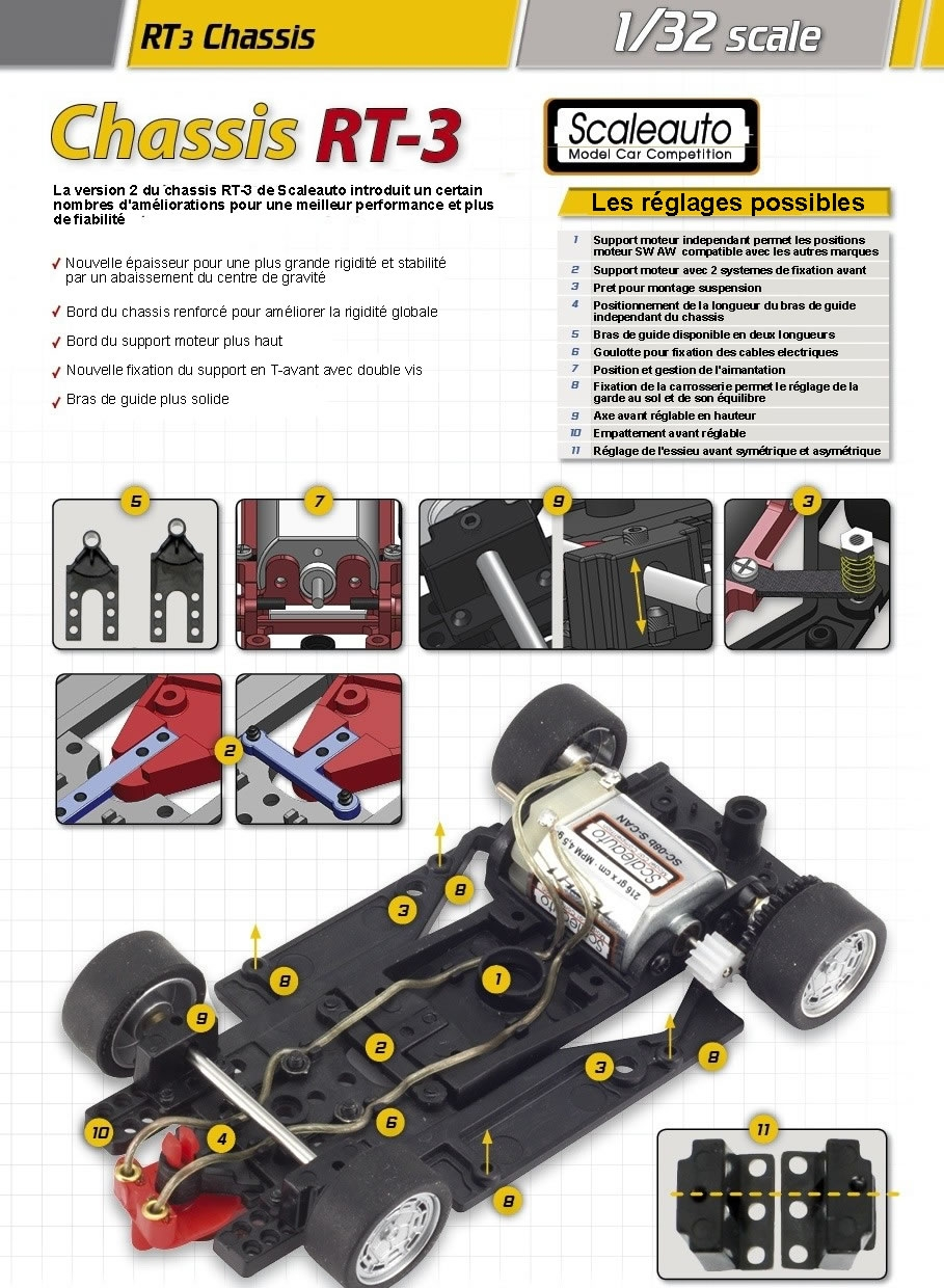 Le chassis RT-3 Scaleauto