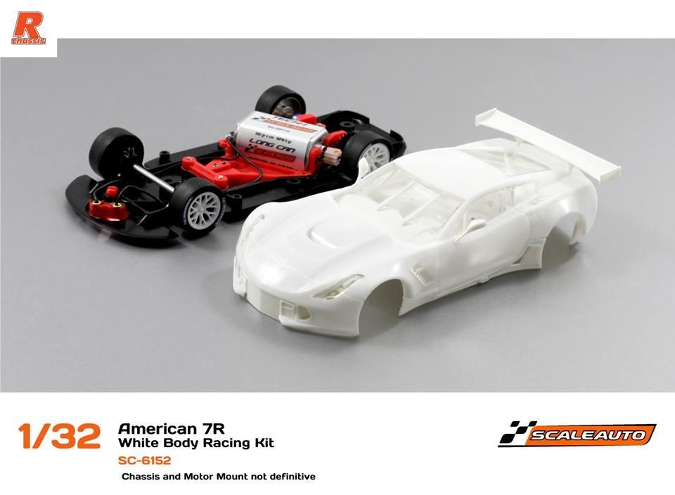 Scaleauto: Le kit blanc Corvette 7CR GT3 SC-6152 1/32