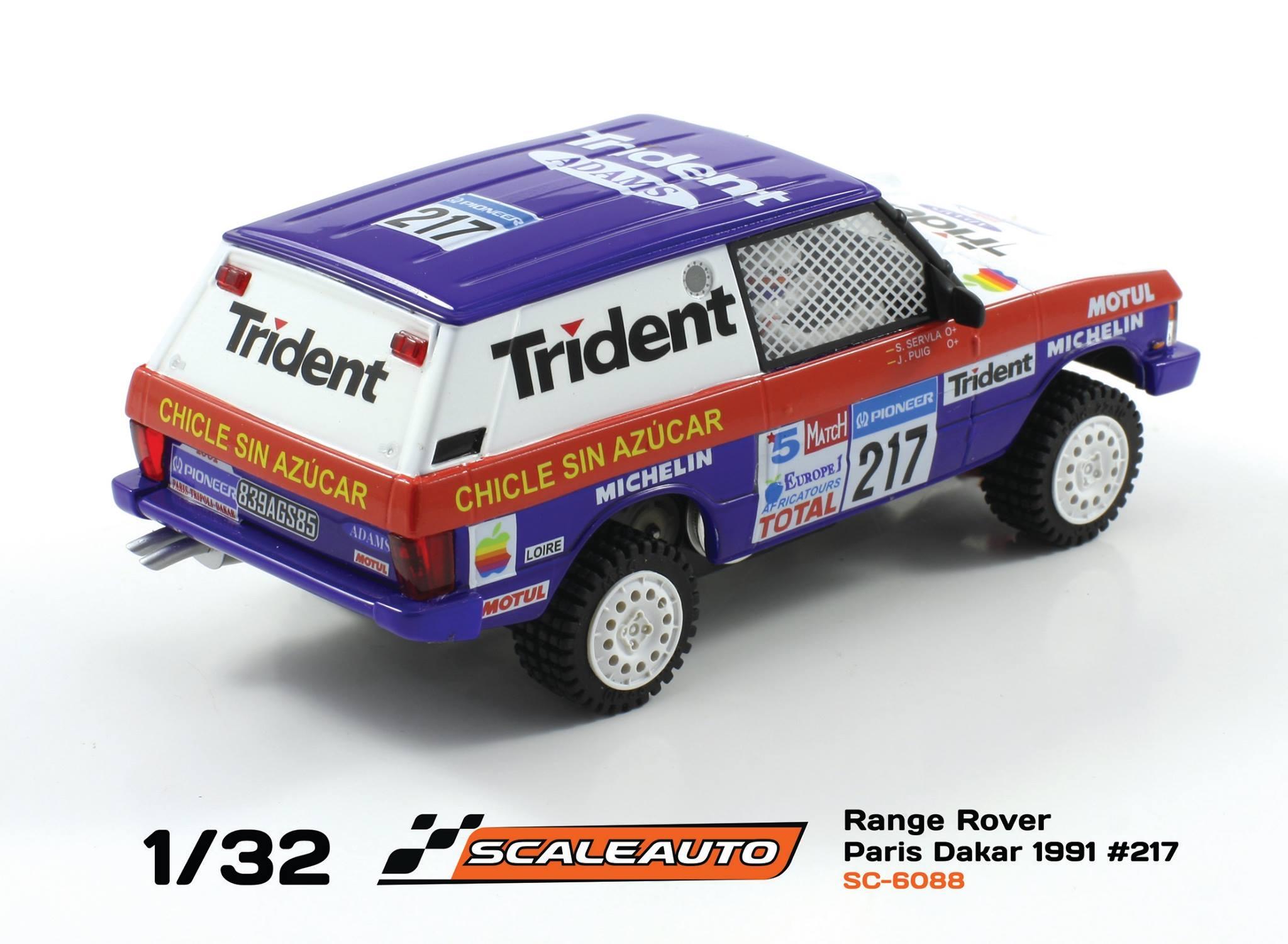 Scaleauto: le Range Rover Trident Paris Dakar 1991
