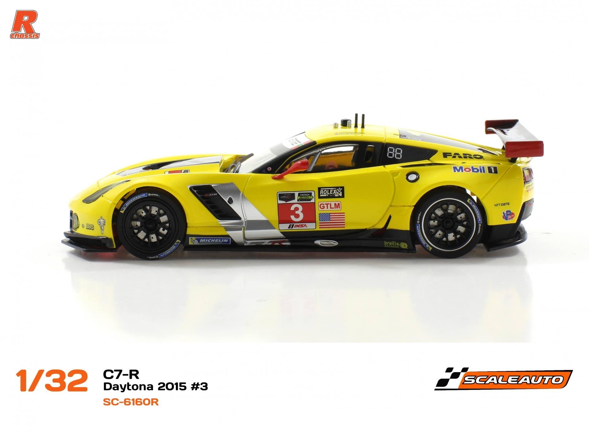 Scaleauto Corvette C7r Gt3 des 24 h. Daytona 2015 #3