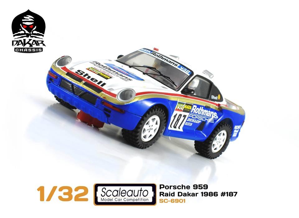 Scaleauto Porsche 959 Dakar 1986 Réf. SC-6091