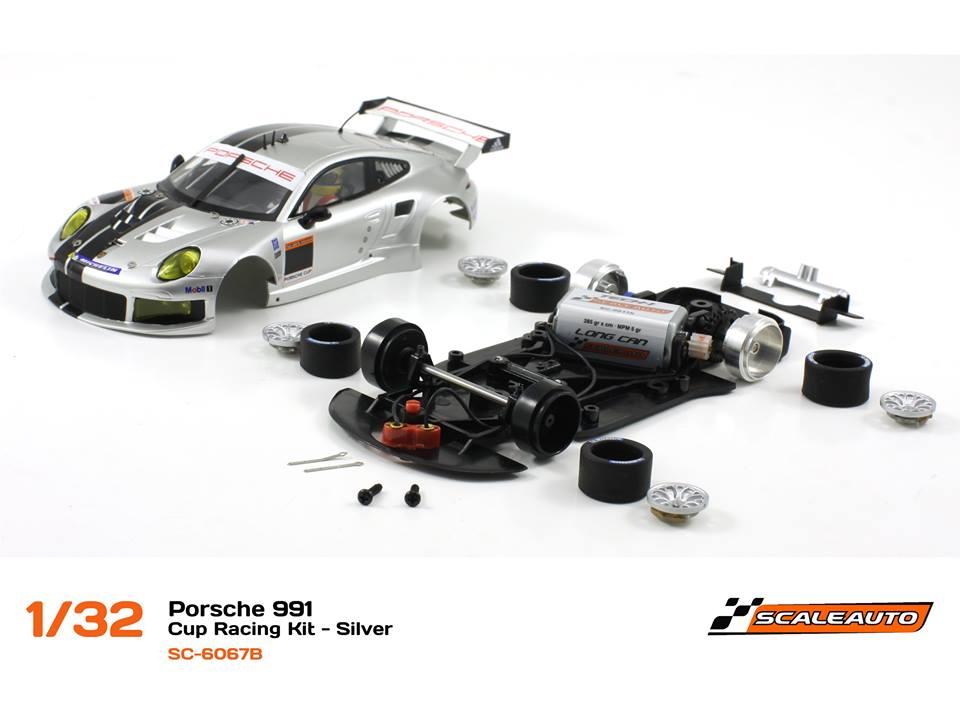 SC-6067B Porsche 991 GT3 Cup Racing AW - Argent 1