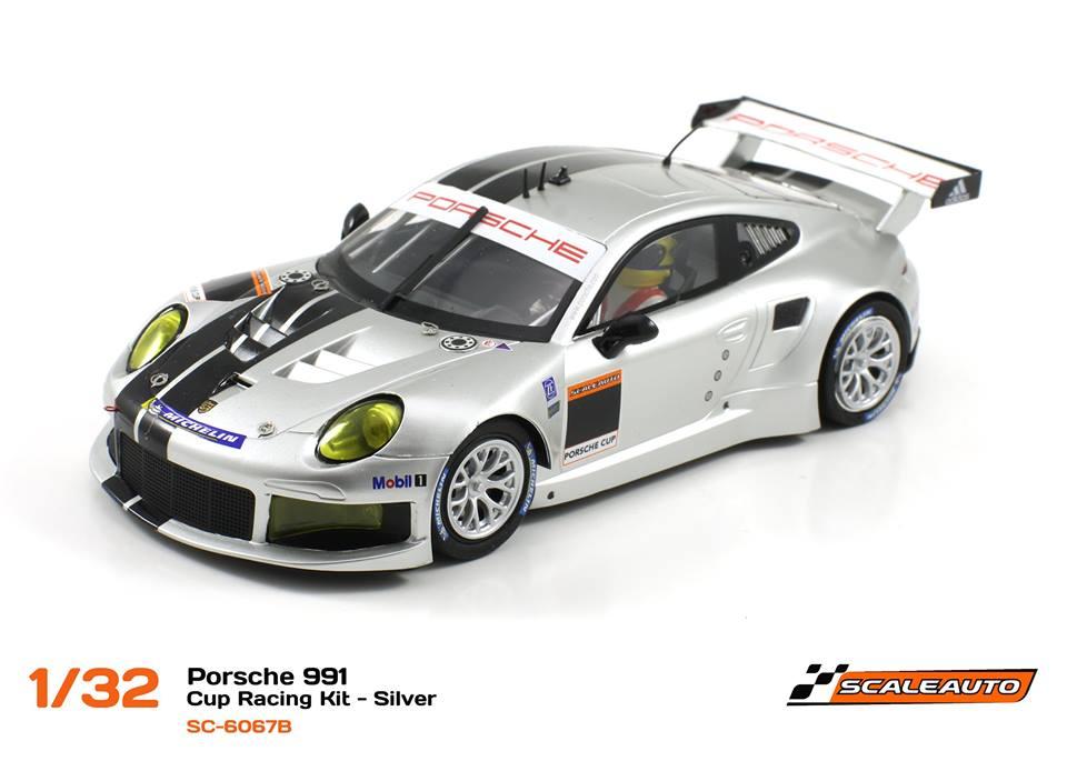 SC-6067B Porsche 991 GT3 Cup Racing AW - Argent