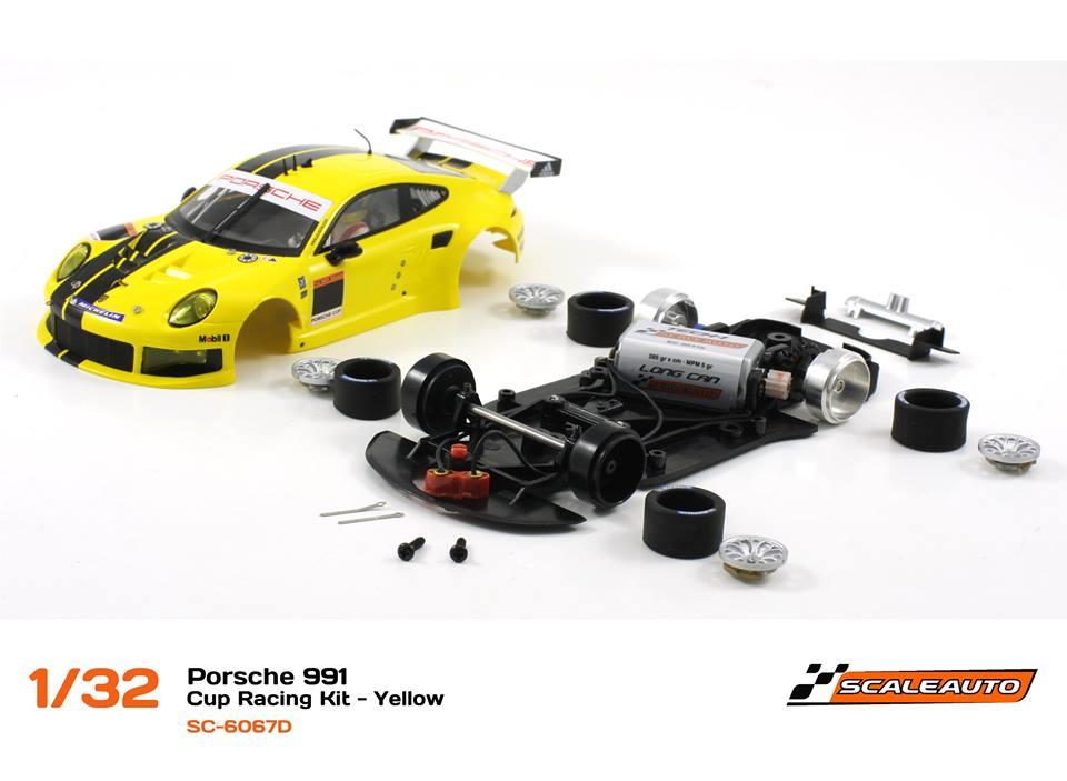 SC-6067D Porsche 991 GT3 Cup Racing AW - Jaune 1