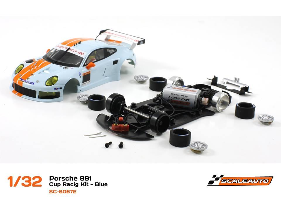SC-6067E Porsche 991 GT3 Cup Racing AW - Bleu 1