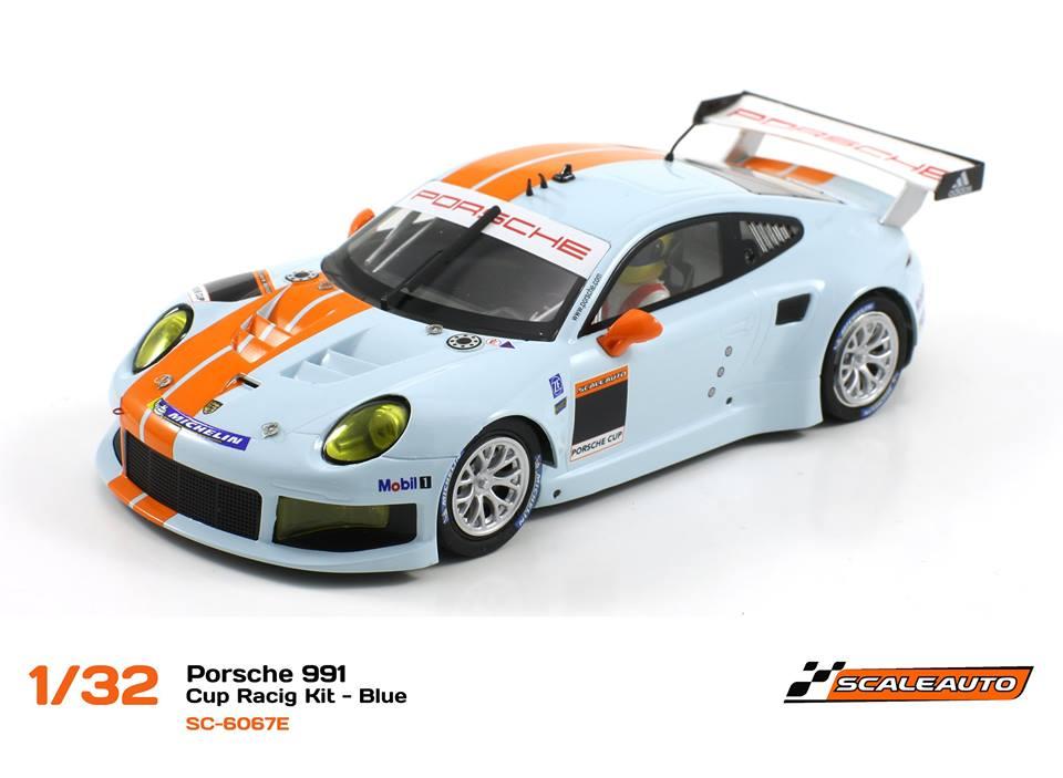 SC-6067E Porsche 991 GT3 Cup Racing AW - Bleu