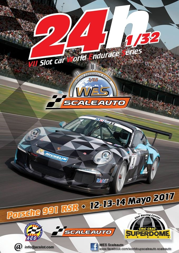 Scaleauto: Porsche 991 Gt3 RSR WES 1/32