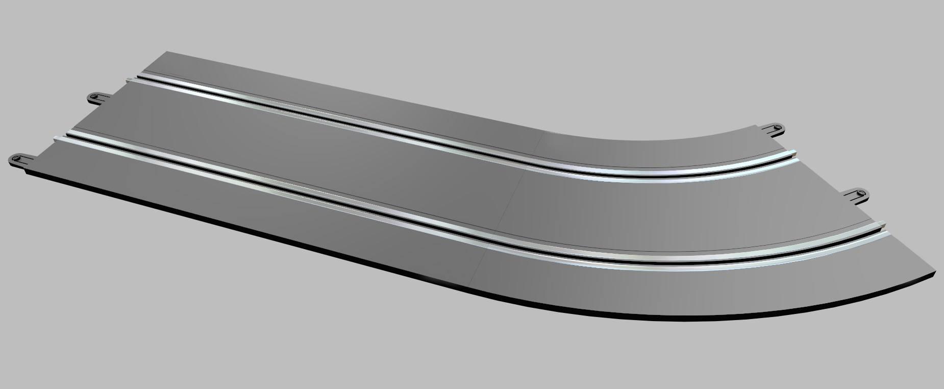 Scaleauto: SC Pro-track des rails plastiques pour faire des circuits