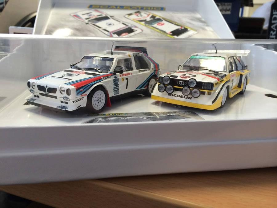 Scalextric coffret Audi Quattro et Lancia Delta S4 Rallye Monte Carlo 1986