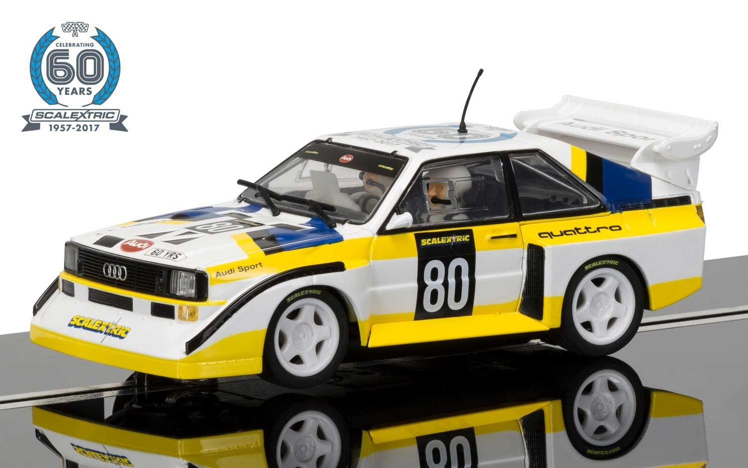 Scalextric 60th Anniversary Collection - 1980s, Audi Sport quattro S1 E2 Limited Edition