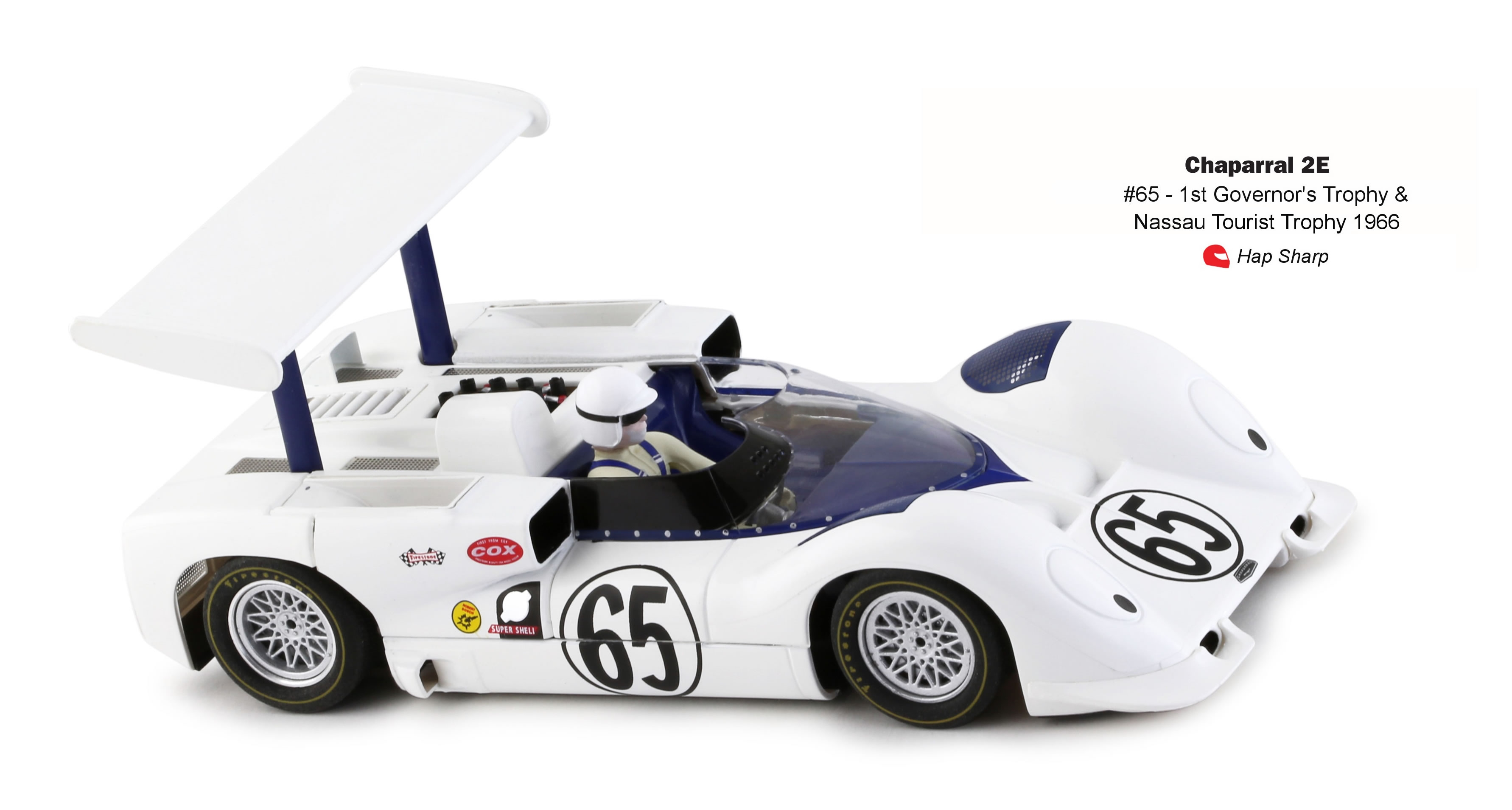 Slot.it: Chaparral 2E n.65 1st Governor's Trophy 1966 - ref CA16c