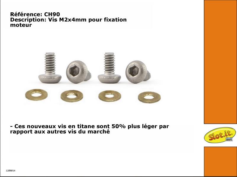 CH90 Vis titane fixation moteur