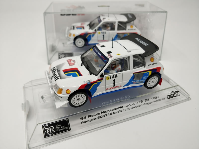 SRC/OSC: Deux Peugeot 205 T16 EVO2 Rally Montecarlo 1986 à gagner