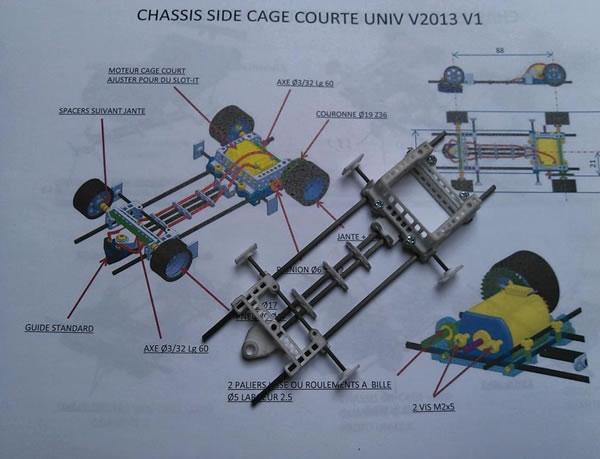 Plan du Chassis tubulaire 3D TAZ