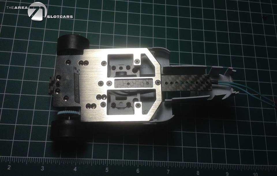 The Area71 Slotcars: Un kit carrosserie de F1 en impression 3D pour le châssis Scaleauto