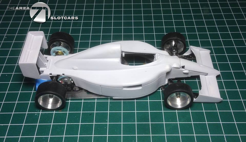 The Area71 Slotcars: Un kit carrosserie de F1 en impression 3D pour le châssis Scaleauto