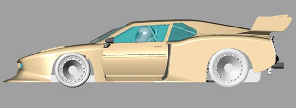 BMW M1 Groupe 5 Sideways