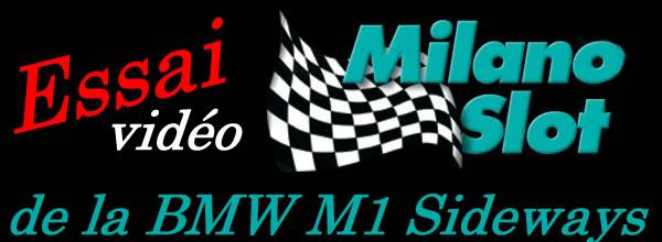 Essai vidéo de la BMW M1 Sideways