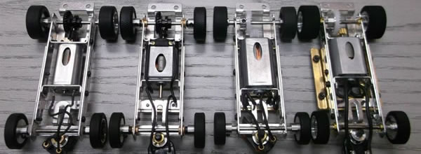 MRRC: Des nouveaux châssis en alu pour voitures de slot