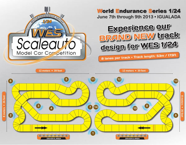 Le plan des pistes de la WSE 2013