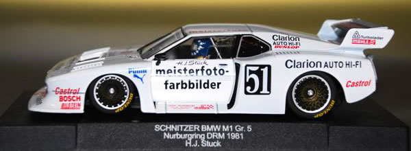 Sideways BMW M1 Gr.5 Norisring DRM 1981 Schnitzer