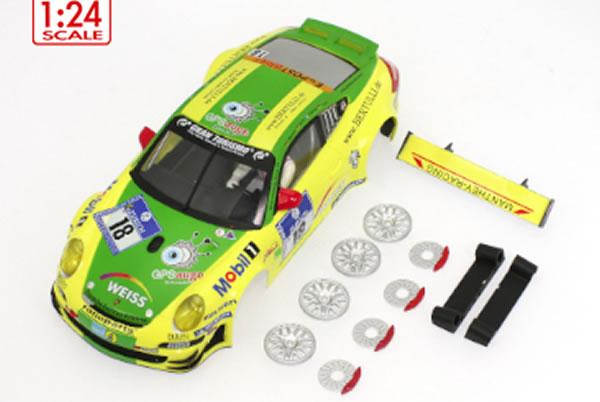 SC-7041B carrosserie Porsche 911 GT3 24h Nurburgring Scaleauto