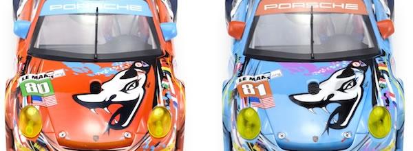 Scaleauto: deux carrosseries de Porsche 911 RSR Flying Lizard