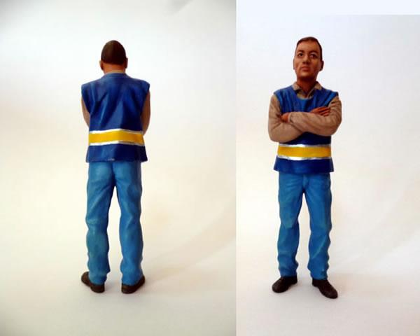 « Le contrôleur », figurine Le Mans miniatures ref FLM124011