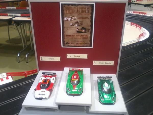 Le podium des Wanted LMP Slot it