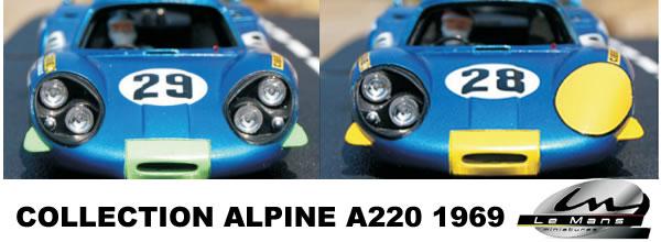 Le Mans Miniatures la collection des Alpine A220 est complète