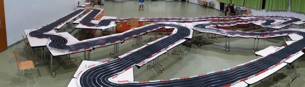 Vue panoramic du superbe circuit de 60 mètres