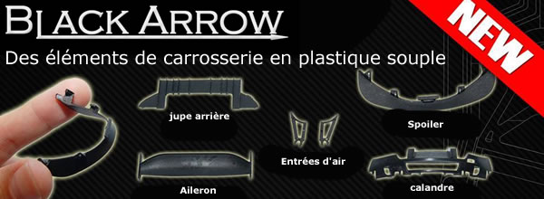 Black Arrow un kit d'éléments de carrosserie en plastique souple