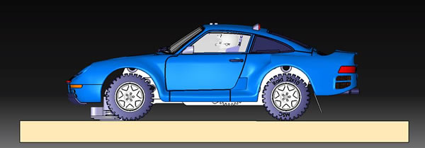 MSC Competition - Porsche 959 pour le Rallye Raid