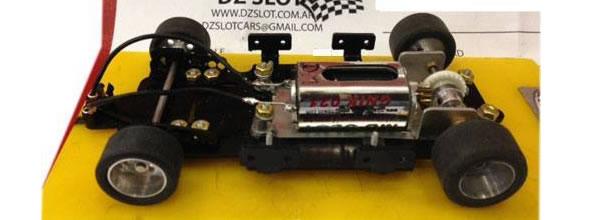 DZSlot: un chassis RTR en alu pour voitures de slot