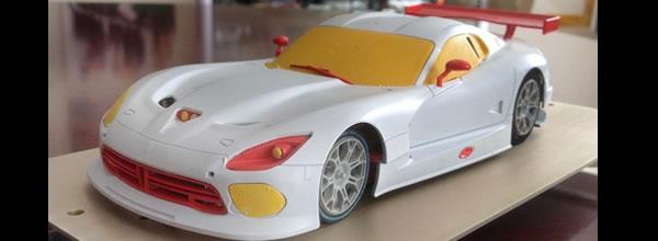 Scaleauto Premiers tests sur circuit de la SRT Viper GTS au 1-24