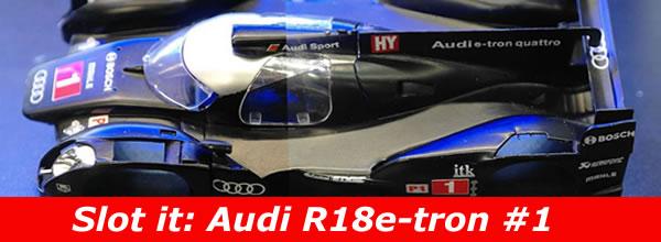 Slot.it Première course pour l'Audi R18 Quattro E-tron